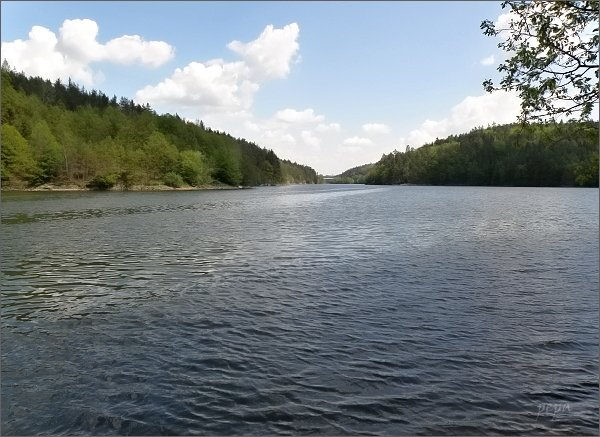 Dalešická přehrada pod Dvořákovou vyhlídkou