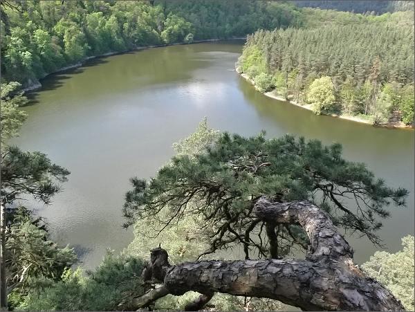 Dalešická přehrada z Dvořákovy vyhlídky