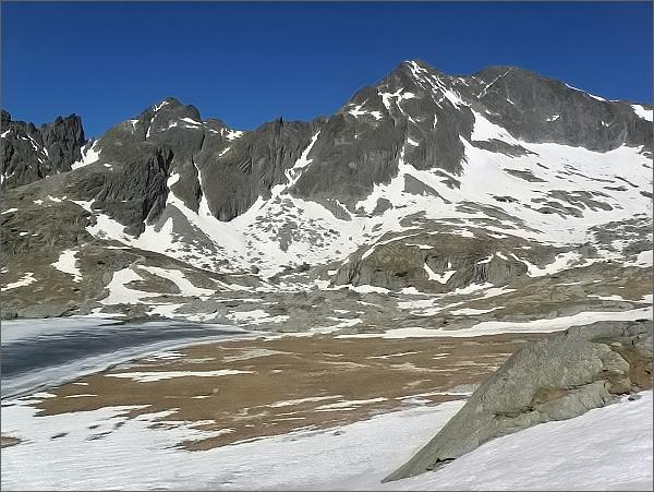 Ľadové štíty a Široká veža zpod Mačacieho kotla