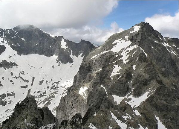 Baranie rohy a Ľadový štít ze Spišského štítu