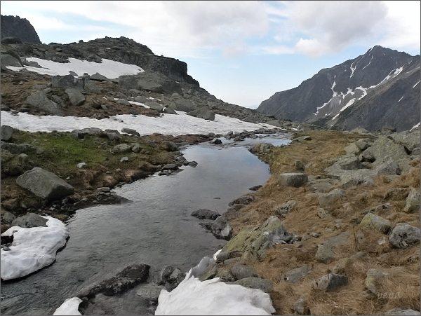 Kotlina Žabích plies, Žabí potok