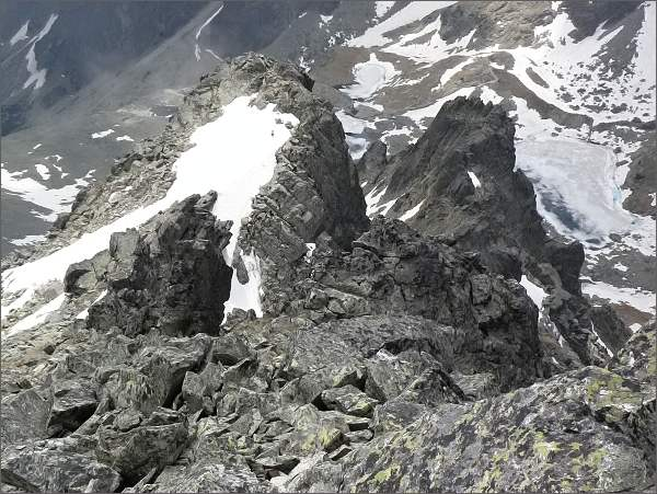 Mačacie veže (blíže Zadná) ze Spišského štítu