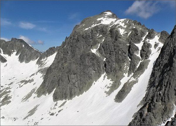 Snehový štít (vlevo) a Baranie rohy z Mačacej veže