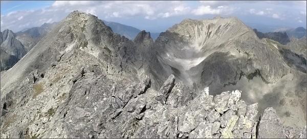 Kupola: pohled na Východnú Vysokú a Svišťový štít