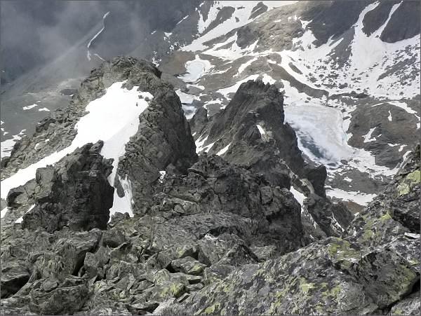 Mačacie veže (Zadná blíže) ze Spišského štítu