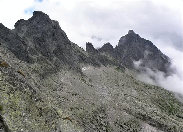 Široká veža a Prostredný hrebeň z Ostrého štítu