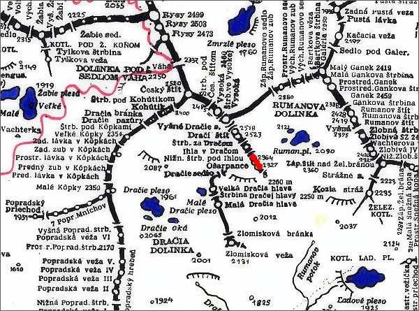 Ošarpance, mapa