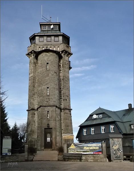 Auersberg, rozhledna