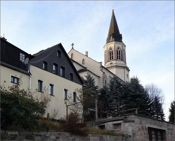 Kostel Exulantenkirche v Johanngeorgenstadtu