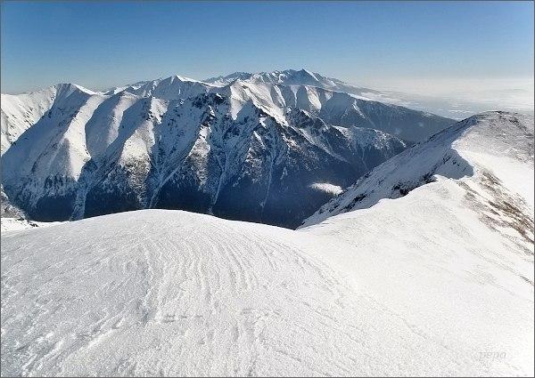 Západné a Vysoké Tatry z Baranca