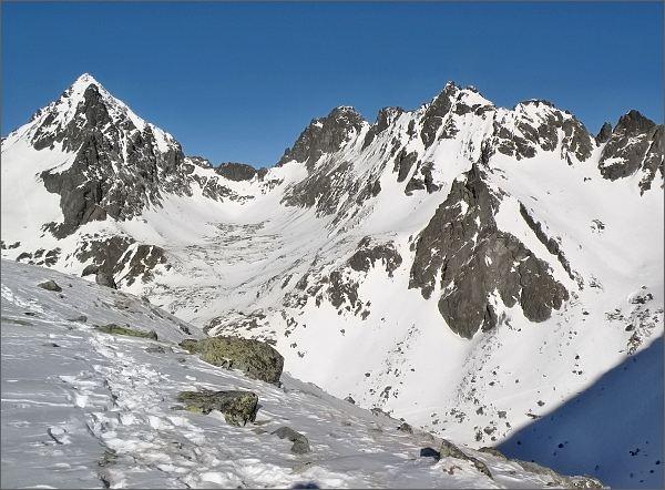 Vysoká a Rumanova dolina z Lúčneho sedla
