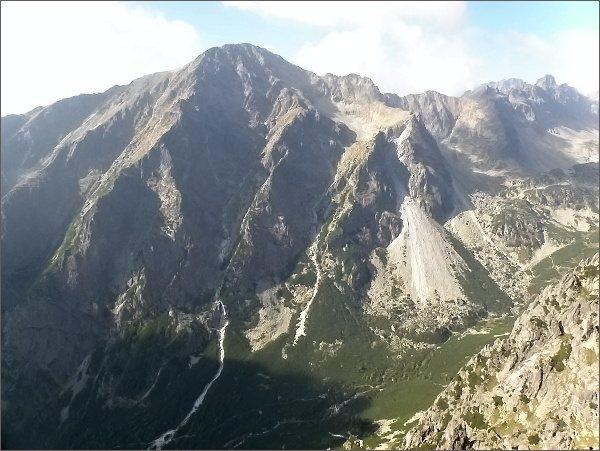 Slavkovský štít a Veľká Studená dolina z Malého Kostola