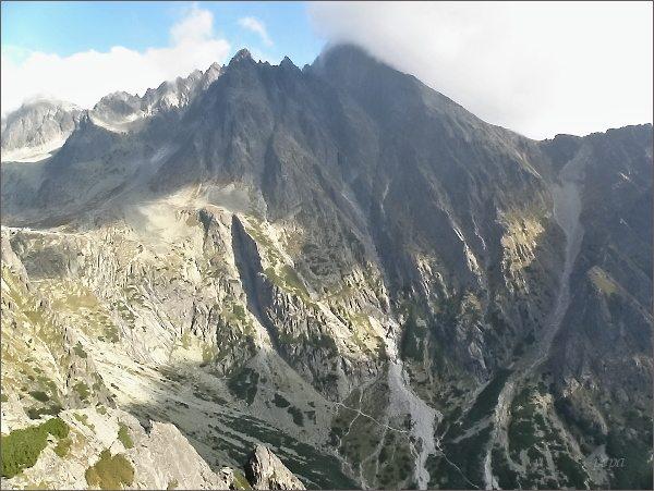 Malá Studená dolina a Rázsocha Lomnického štítu z Malého Kostola