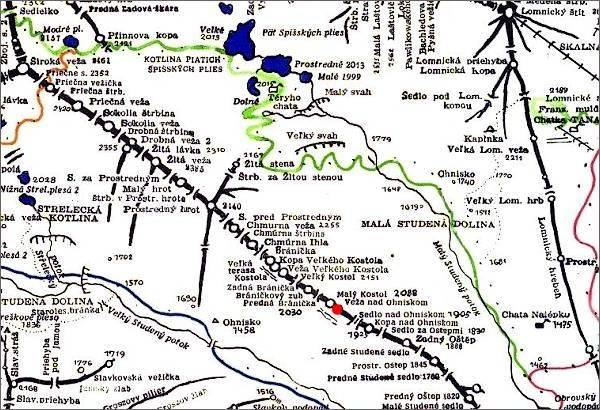 Veža nad Ohniskom, mapa