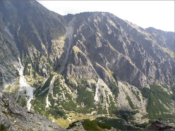 Lomnické sedlo, Lomnická kopa a Filmársky žlab z Veže nad Ohniskom