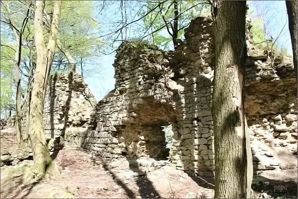 Hostýnské vrchy, Obřany. Torzo hradu
