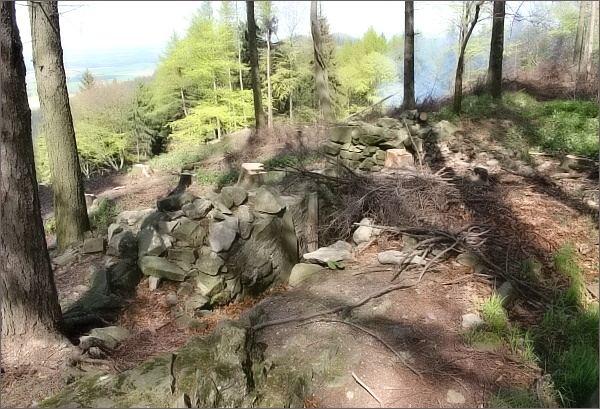 Zbytky hradu Šaumburk