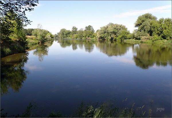 Morava u ústí Baťova kanálu