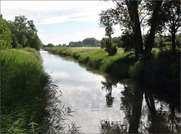 Baťův kanál nad Sudoměřicemi