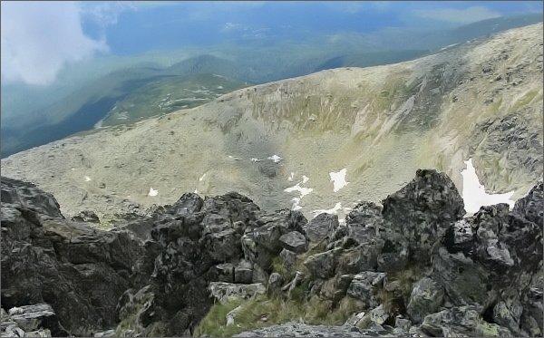 Pohled do dolní části Gerlachovského kotla