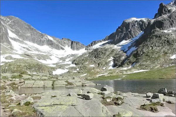 Kotlina Spišských plies, pohled ke Snehovému štítu a Baraním rohom