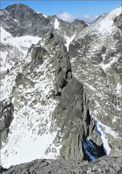 Spišský štít a Ľadový štít z Ovčiarskej veže