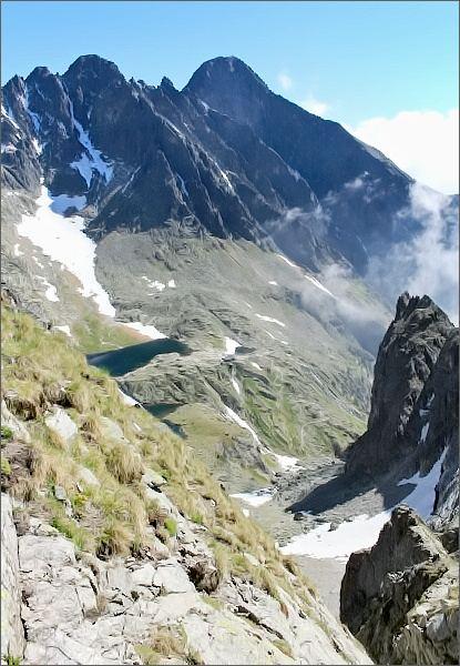 Žltá lávka, pohled do Malej Studenej doliny