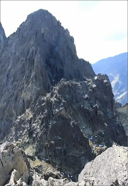 Drobná veža a Žltá veža ze Sokolej veže