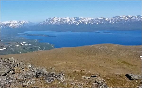 Národní park Abisko, Nuolja. Pohled na jezero Torneträsk