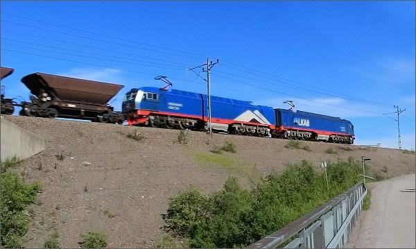 Abisko, železniční trať Narvik - Kiruna