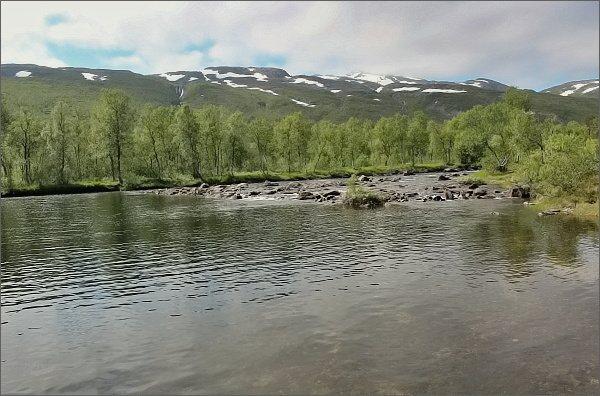 Národní park Ånderdalen. Řeka Ånderelva