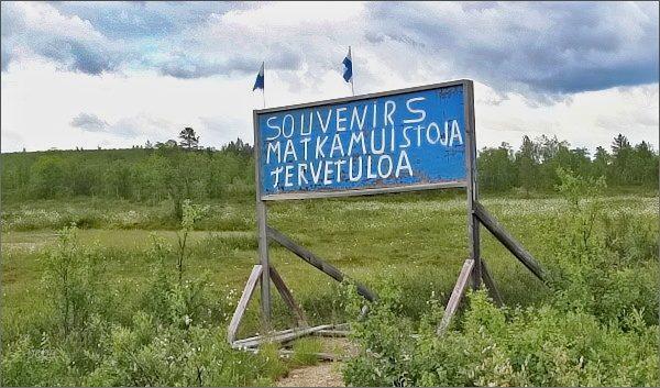 Poutač u sámského tržiště