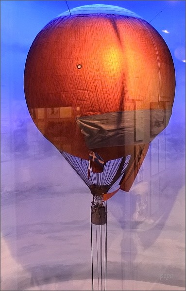 Polarmuseet Tromsø. Model balónu Ørnen S. A. Andréého