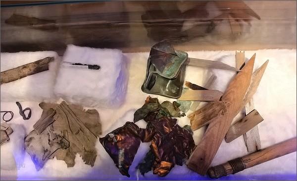 Pozůstatky Andréeho expedice nalezené členy výpravy na norské lodi Bratvaag