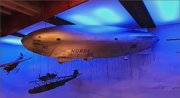Polarmuseet Tromsø. Model vzducholodi Norge