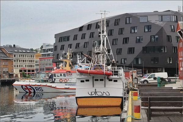 Tromsø, nábřeží a přístav