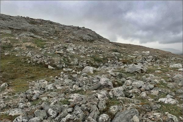 Mrazová step na úbočí hory Stuorra Binalvárri