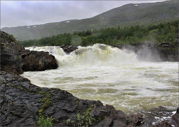 Řeka Stabburselva, vodopády Stabbursfossen