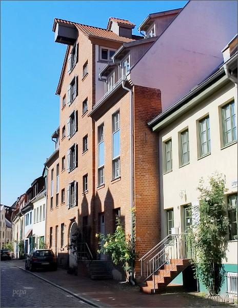 Uličky historické části Rostocku