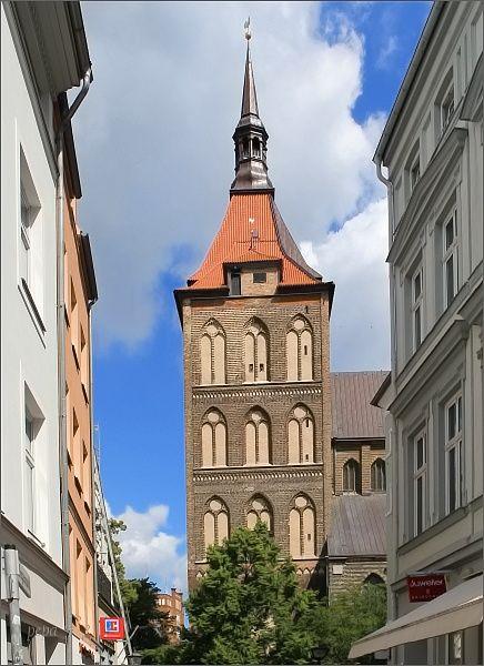 Rostock. St.-Marien-Kirche z Kröpeliner Strasse