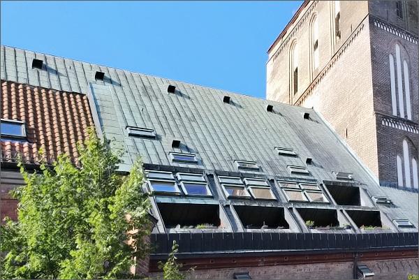 Rostock. Podkrovní byty v Nikolaikirche