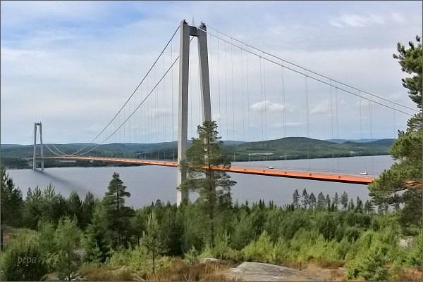 Most přes ústí řeky Ångermanälven