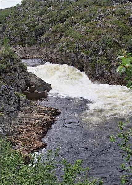 Peřeje řeky Repparfjordelva