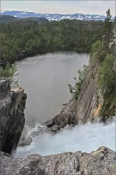 Národní park Rago. Vodopád Trollforsen