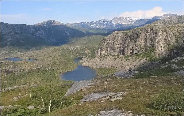Národní park Rago. Pohled do údolí Trolldalen