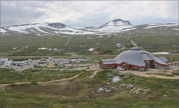 Norsko. Arctic Circle Centre na E 06 nedaleko města Mo i Rana