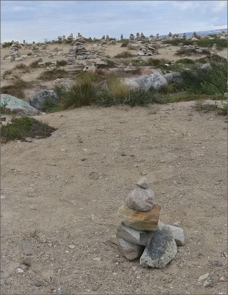 Náš kamenný mužík na severním polárním kruhu