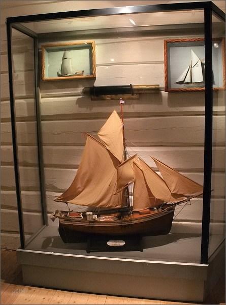Kabelvåg, Lofotmuseet, model rybářské lodi