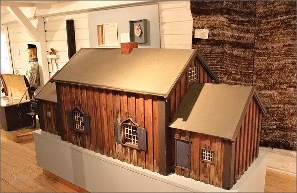 Kabelvåg, Lofotmuseet, model rybářského domku