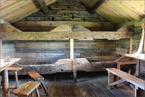 Kabelvåg, Lofotmuseet, interiér rybářského obydlí